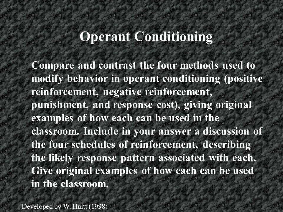 Operant Conditioning The major theorists for the development of operant conditioning are: Edward Thorndike John Watson B.F.