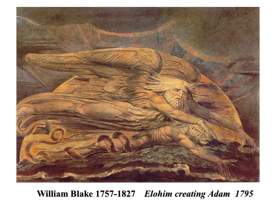 William Blake 1757-1827 Elohim creating Adam 1795