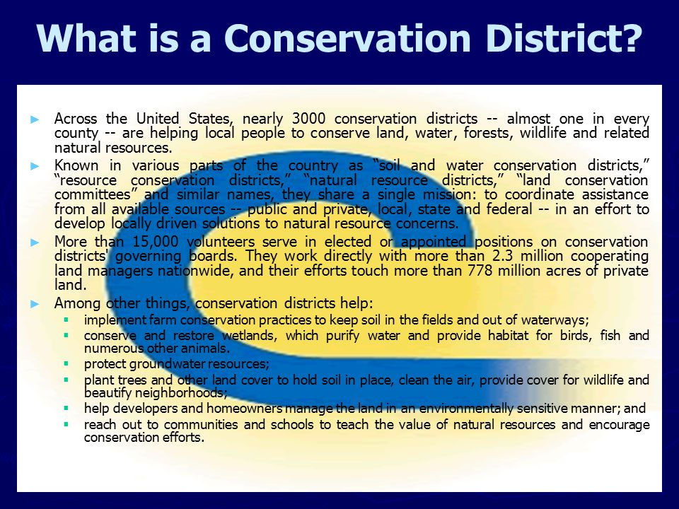 What is a Conservation District.