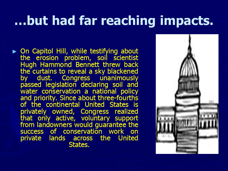 …but had far reaching impacts.