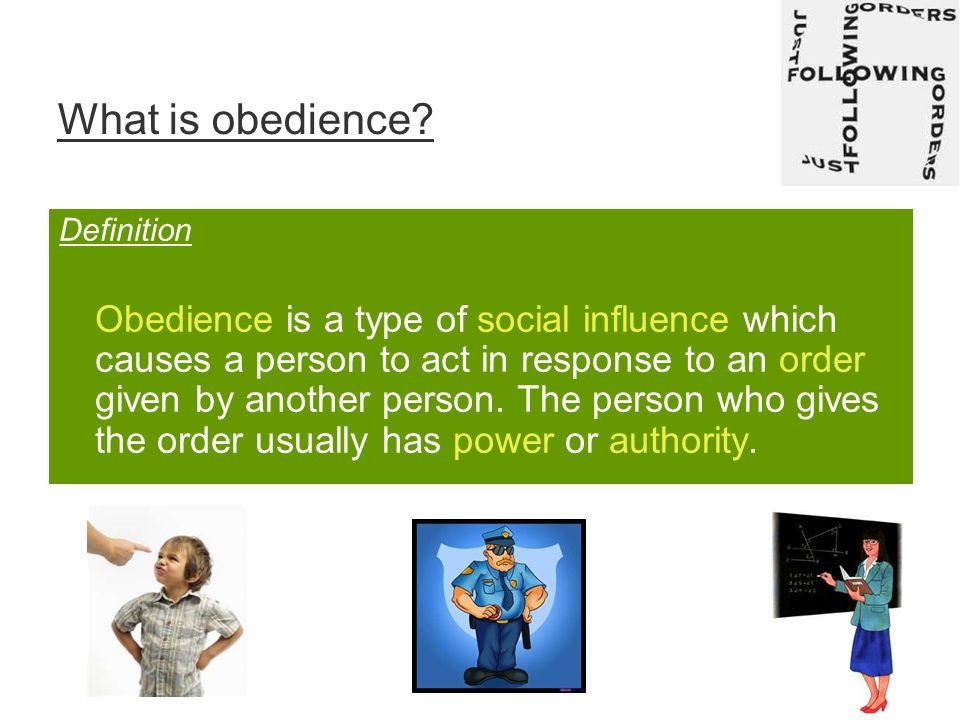 What is obedience.