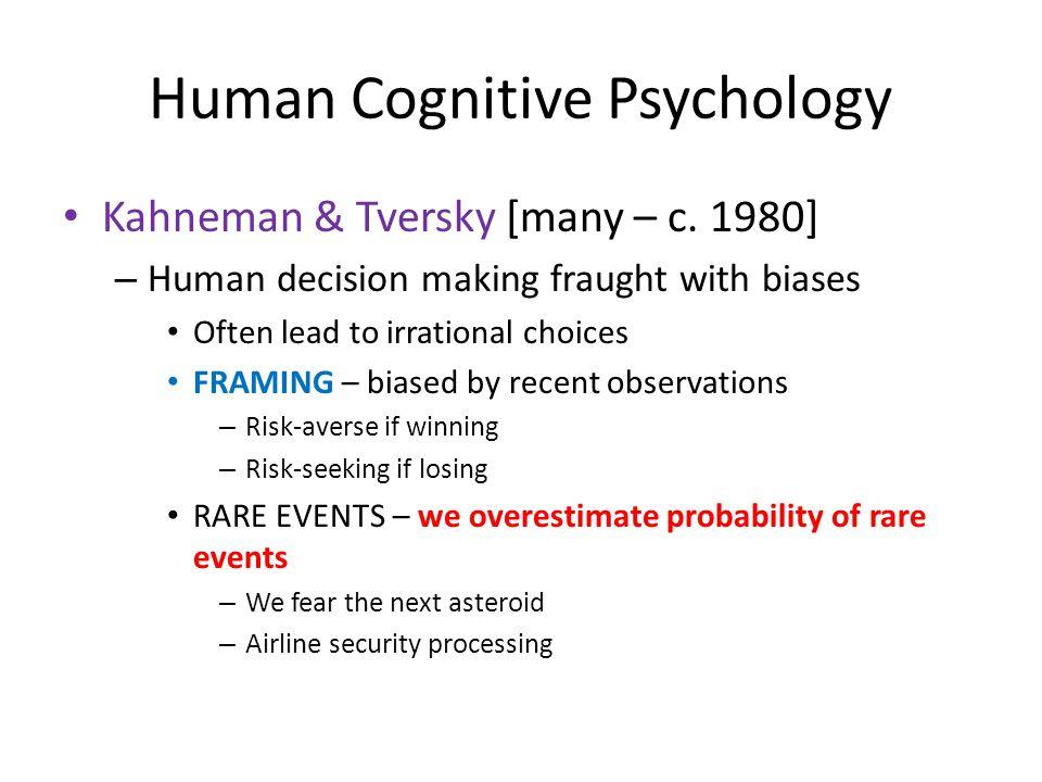 Human Cognitive Psychology Kahneman & Tversky [many – c.