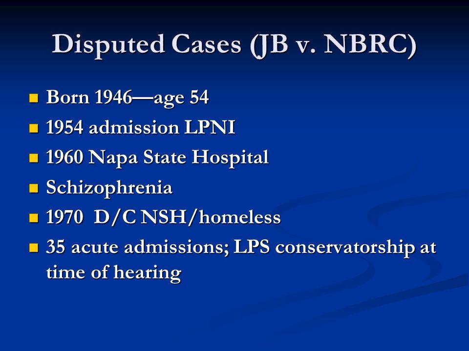 Disputed Cases (JB v.