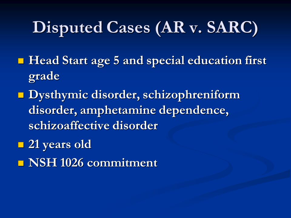 Disputed Cases (AR v.