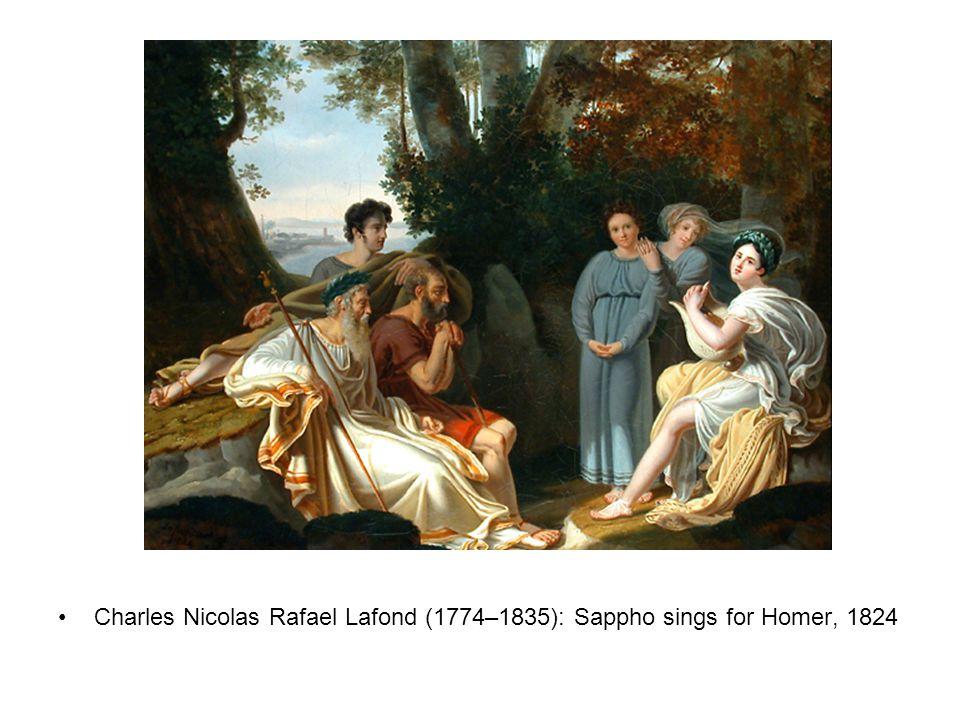 Charles Nicolas Rafael Lafond (1774–1835): Sappho sings for Homer, 1824