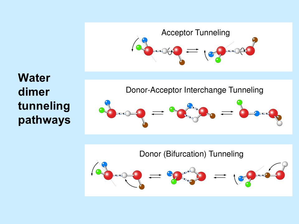 Water dimer tunneling pathways