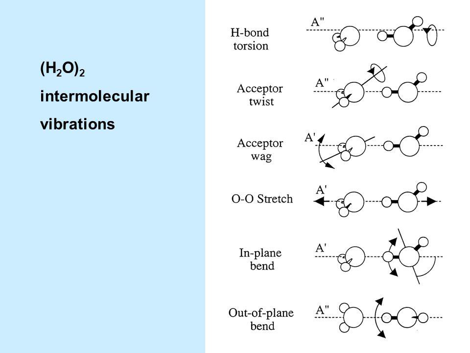 (H 2 O) 2 intermolecular vibrations