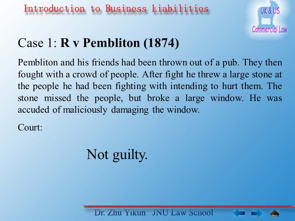 Case 2: Limpus v LGOC (1862) LGOC's bus driver obstructed a bus of plaintiff in order to prevent it passing.