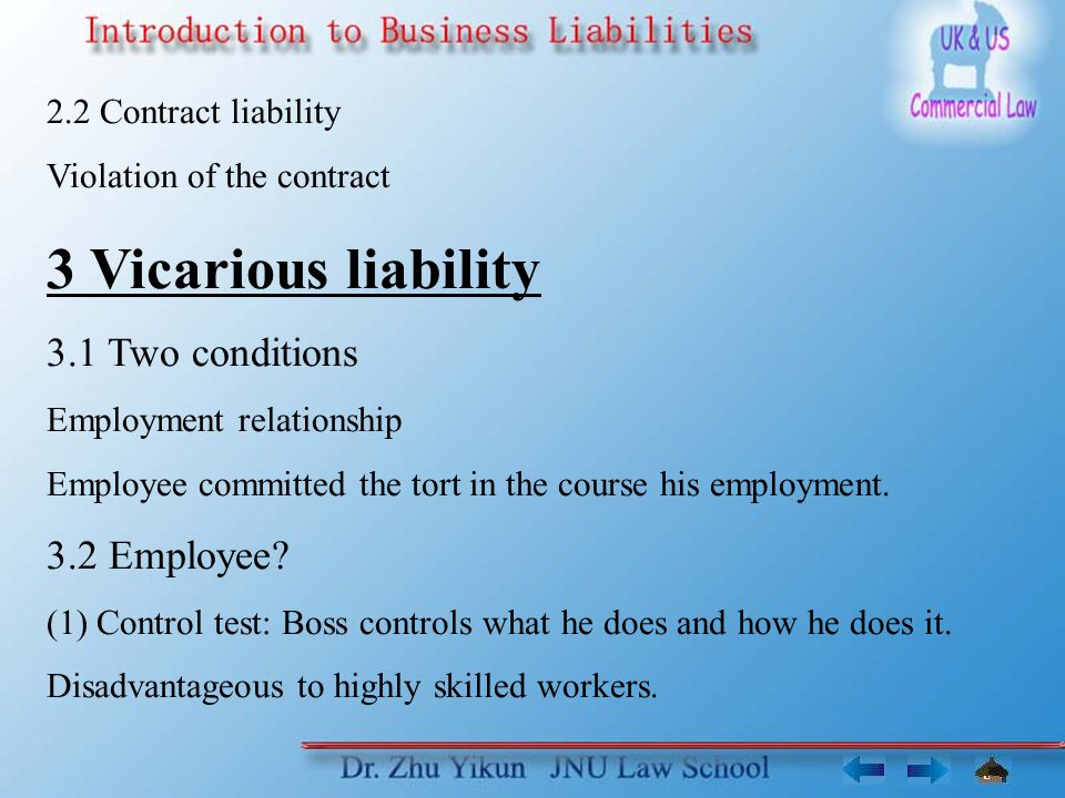 4.2 Strict criminal liability * Consumer Protection Act 1987, Part II (1) Applies to anyone supplying goods.