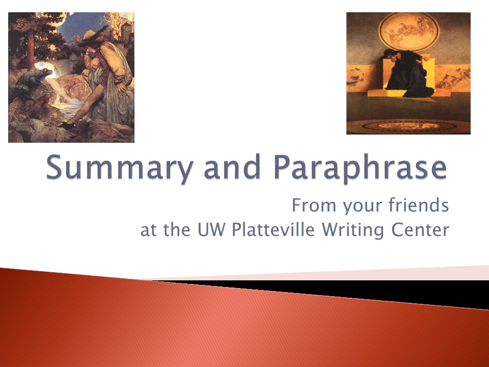 From your friends at the UW Platteville Writing Center