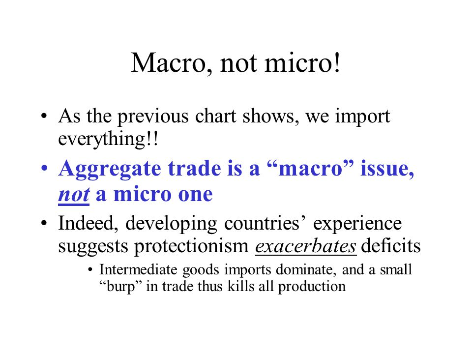 Macro, not micro. As the previous chart shows, we import everything!.