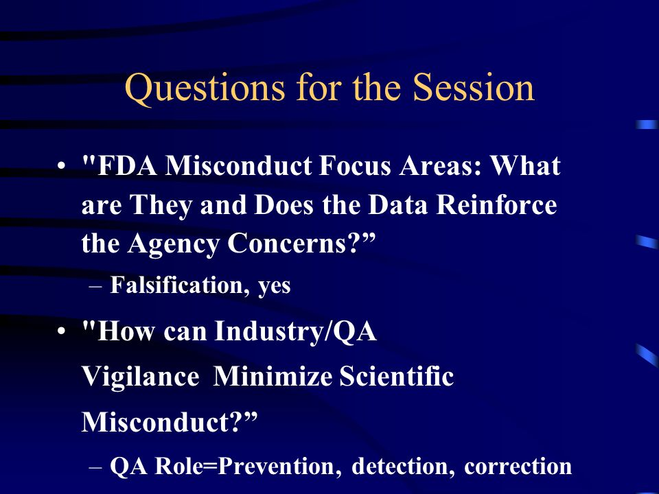 Questions for the Session