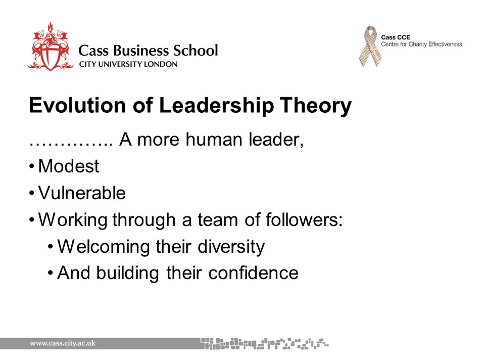 Evolution of Leadership Theory …………..