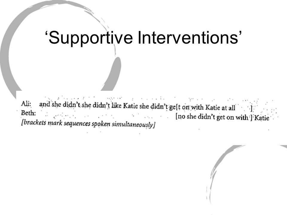 'Supportive Interventions'