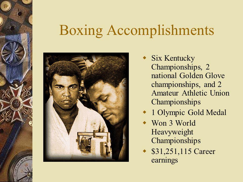 Important Fights  Ali v. Frazier March 8, 1971 L15  Ali v.