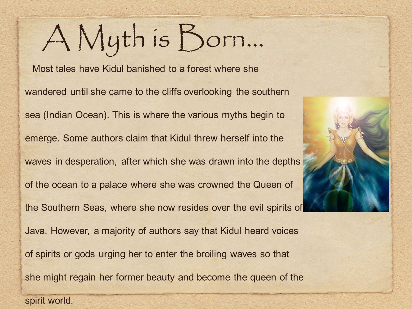 A Myth is Born...