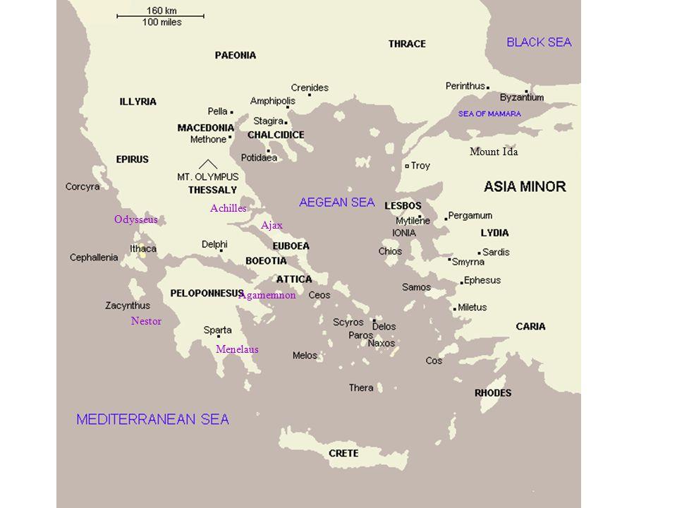 Odysseus Agamemnon Nestor Menelaus Achilles Mount Ida Ajax