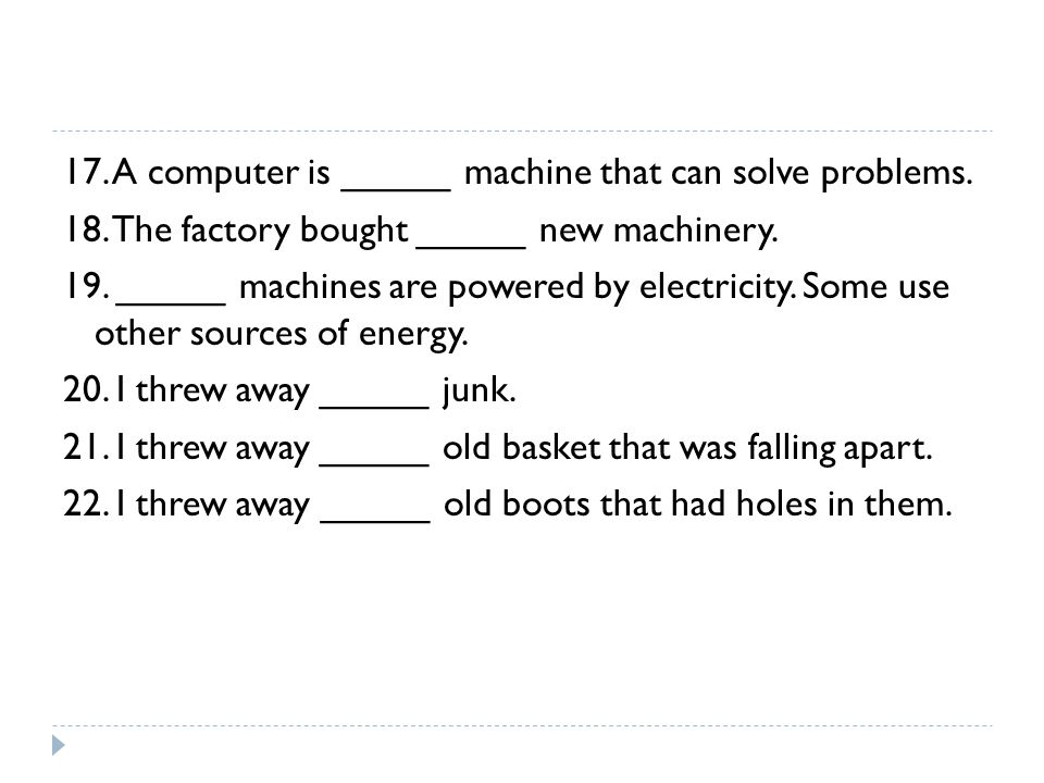 17. A computer is _____ machine that can solve problems.