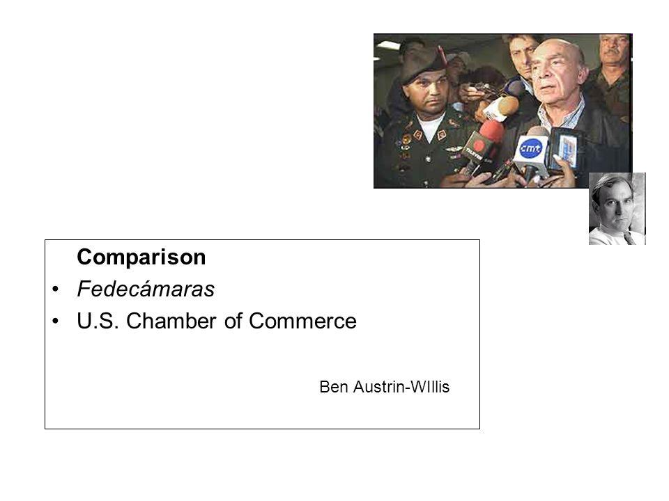 Comparison Fedecámaras U.S. Chamber of Commerce Ben Austrin-WIllis