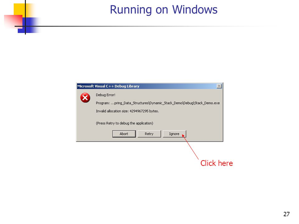 27 Running on Windows Click here