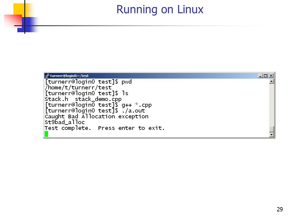 29 Running on Linux
