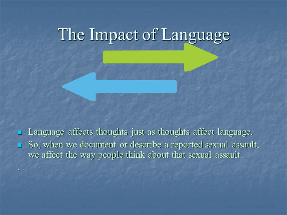 The Impact of Language Language affects thoughts just as thoughts affect language.