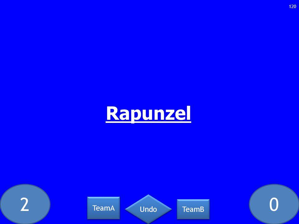 20 120 Rapunzel TeamA TeamB Undo