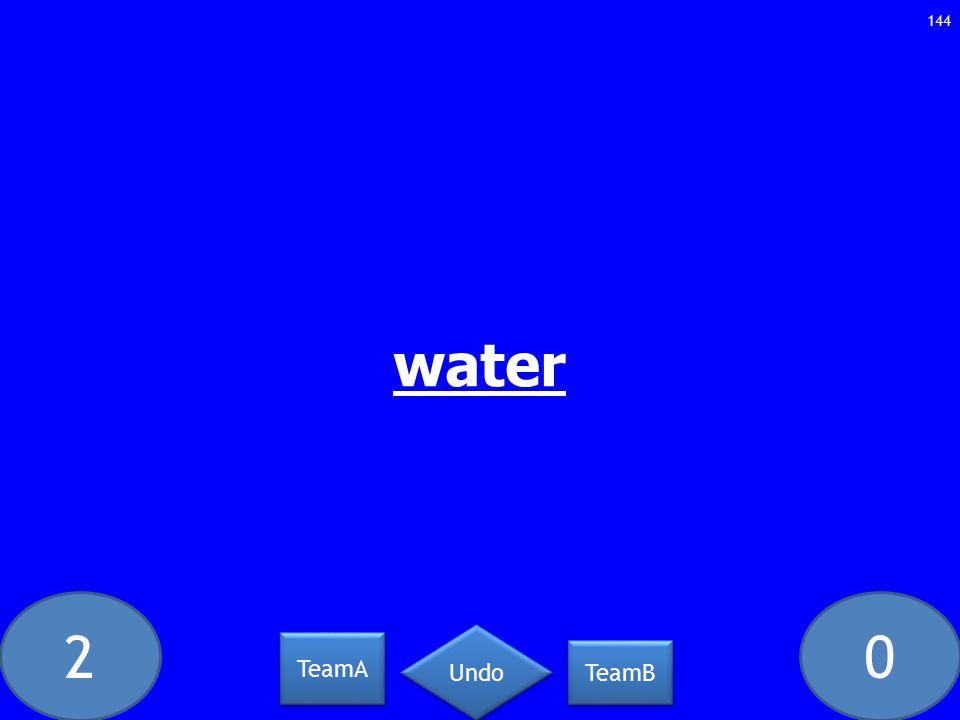 20 water 144 TeamA TeamB Undo