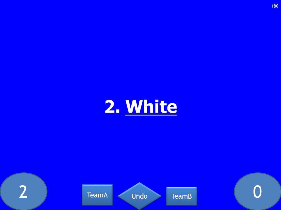 20 2. White 180 TeamA TeamB Undo