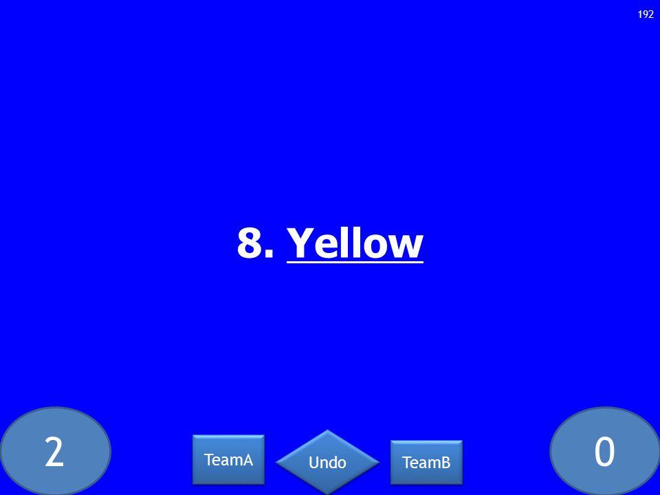 20 8. Yellow 192 TeamA TeamB Undo