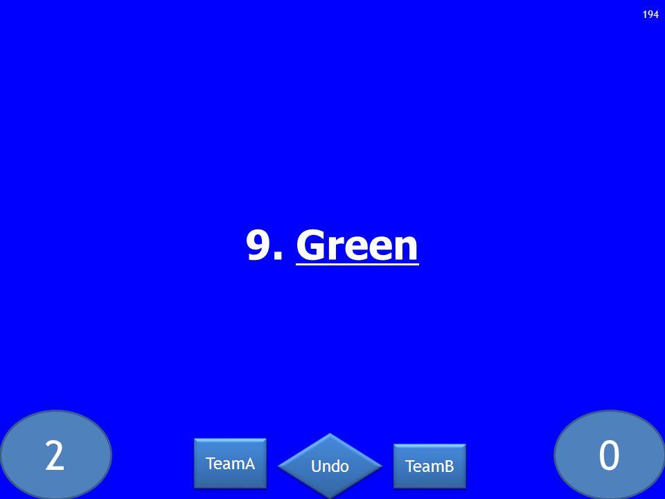 20 9. Green 194 TeamA TeamB Undo