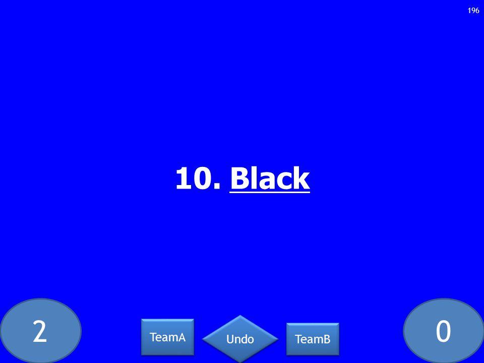 20 10. Black 196 TeamA TeamB Undo