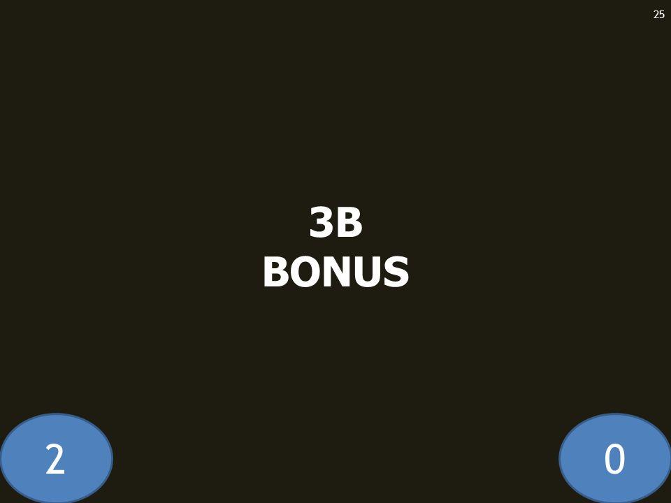 20 3B BONUS 25
