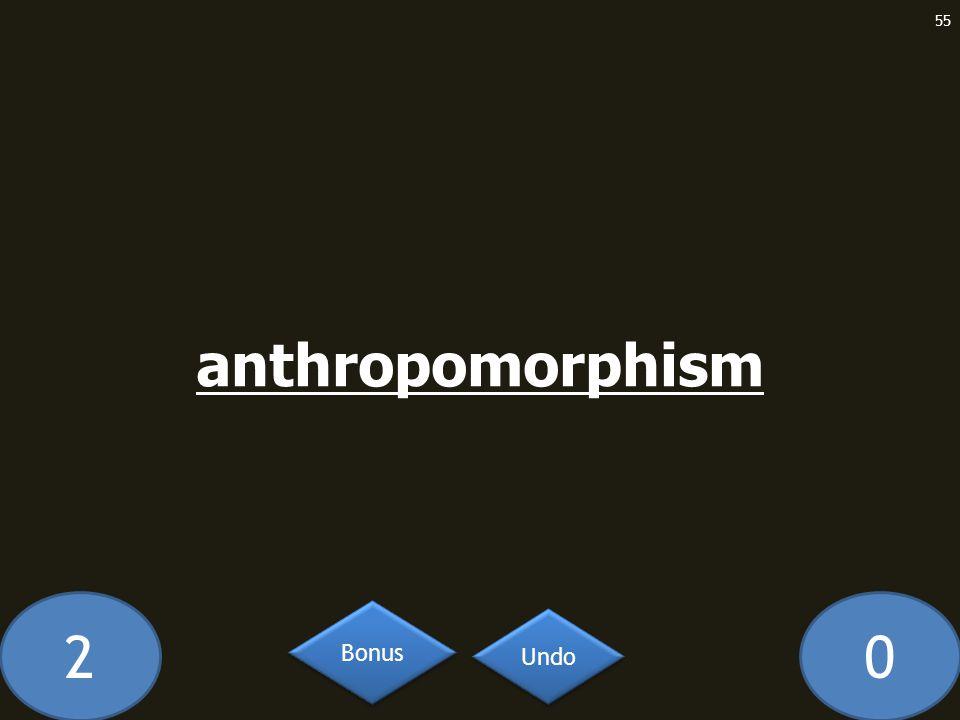 20 anthropomorphism 55 Undo Bonus