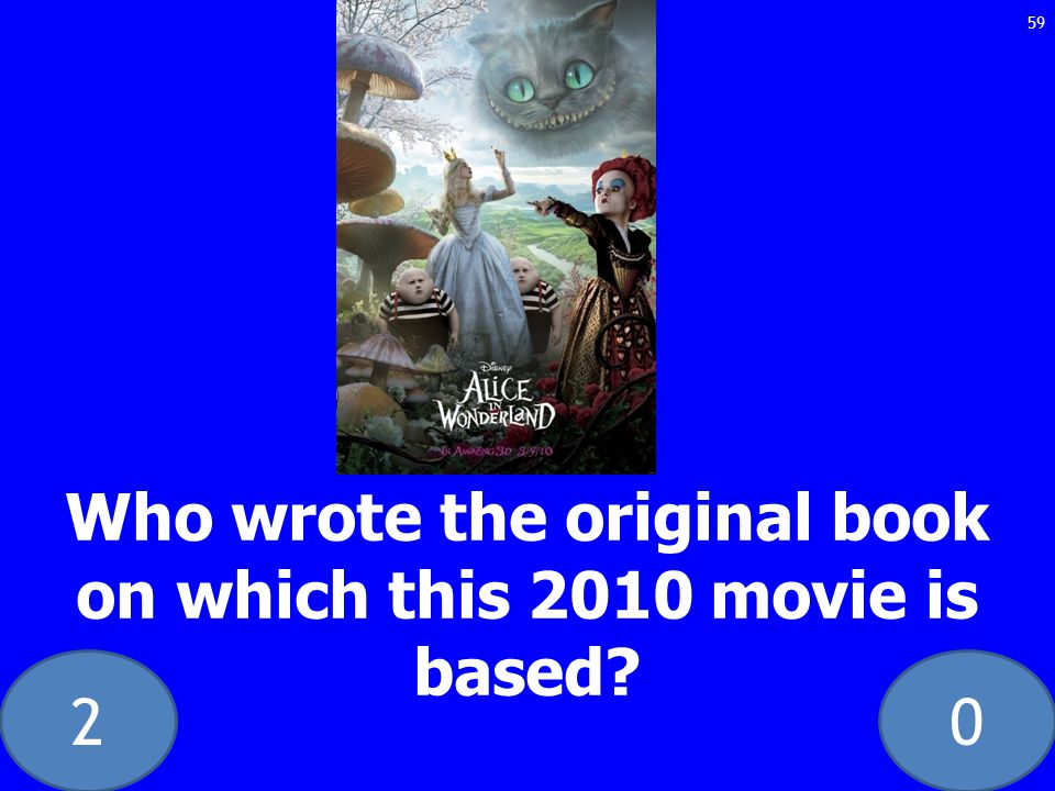 20 Who wrote the original book on which this 2010 movie is based 59