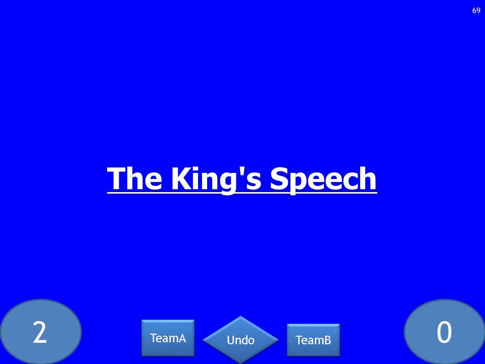 20 The King s Speech 69 TeamA TeamB Undo