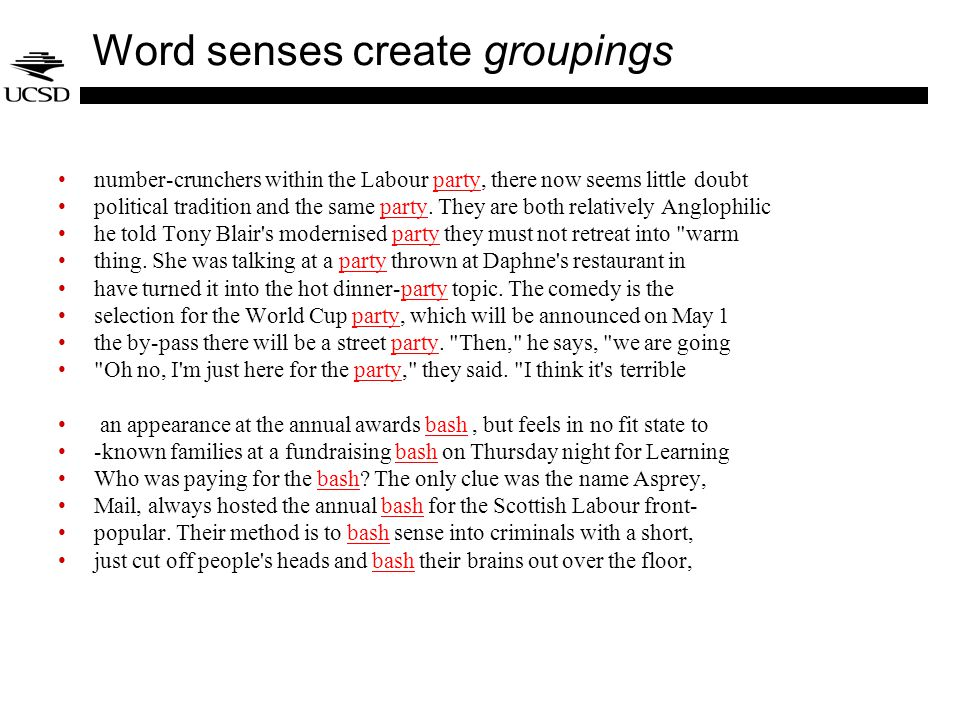 Word senses create groupings number-crunchers within the Labour party, there now seems little doubtparty political tradition and the same party.