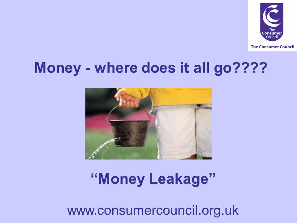 www.consumercouncil.org.uk Money - where does it all go Money Leakage