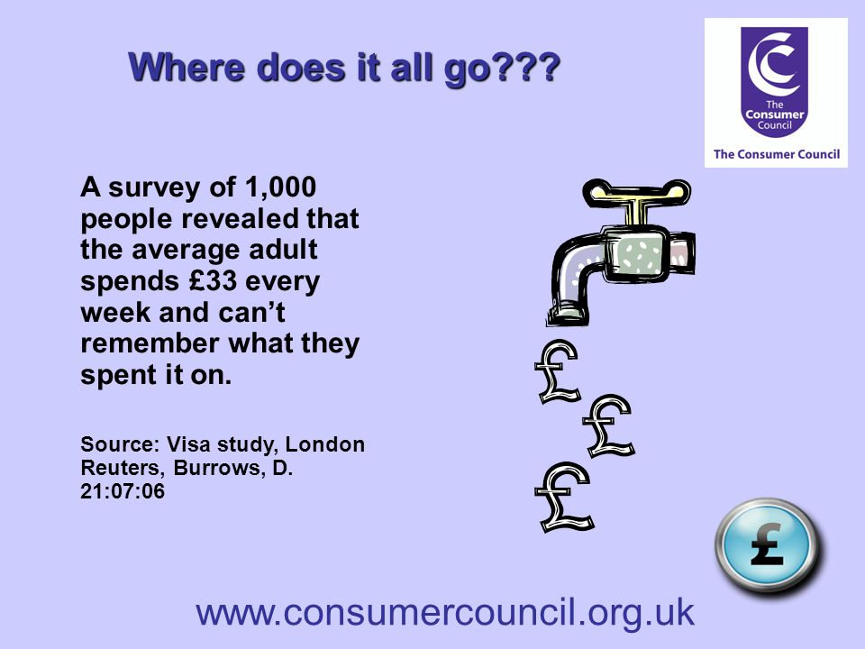 www.consumercouncil.org.uk Where does it all go .