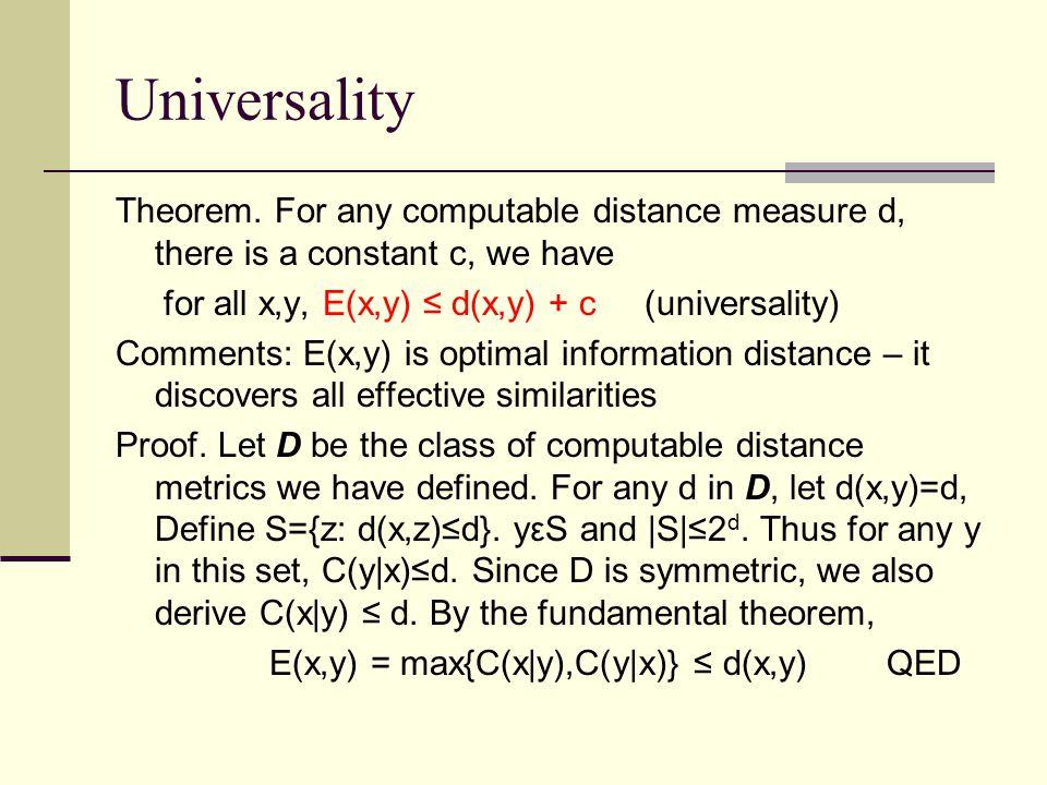 Universality Theorem.