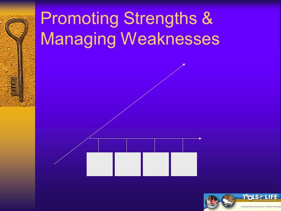 Promoting Strengths & Managing Weaknesses