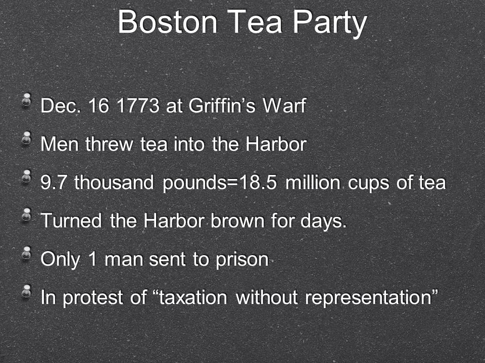 Boston Tea Party Dec.