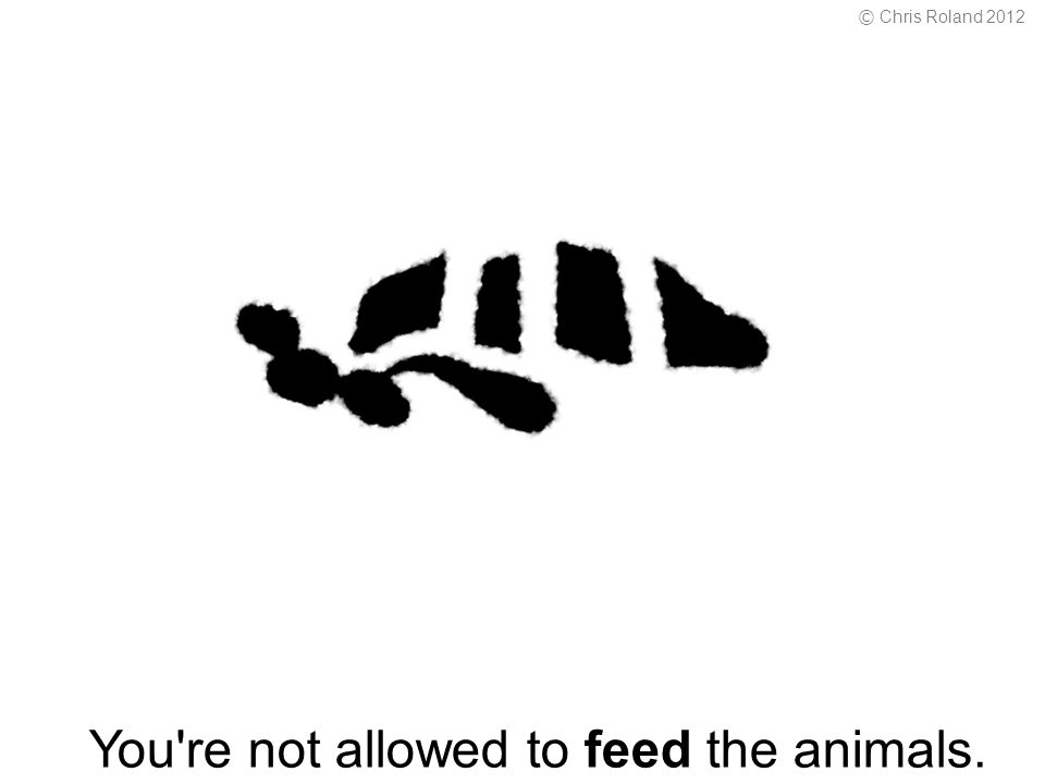 You re not allowed to feed the animals. © Chris Roland 2012