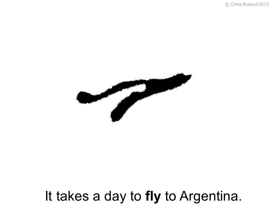 It takes a day to fly to Argentina. © Chris Roland 2012