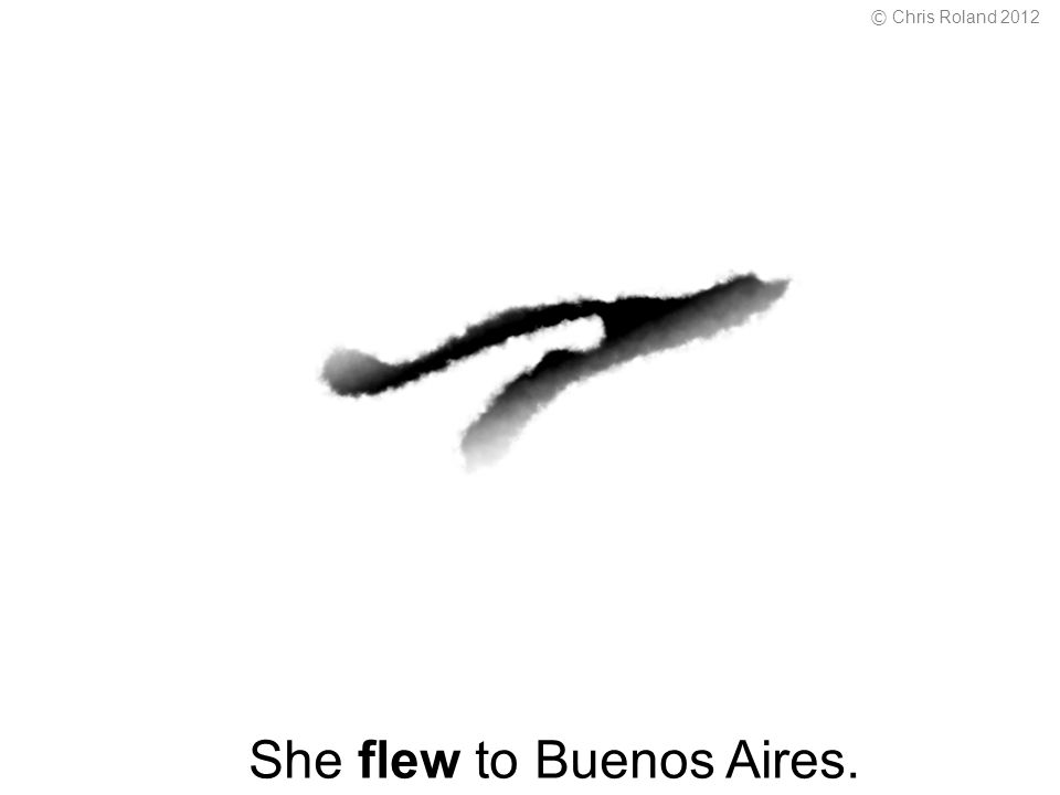 She flew to Buenos Aires. © Chris Roland 2012