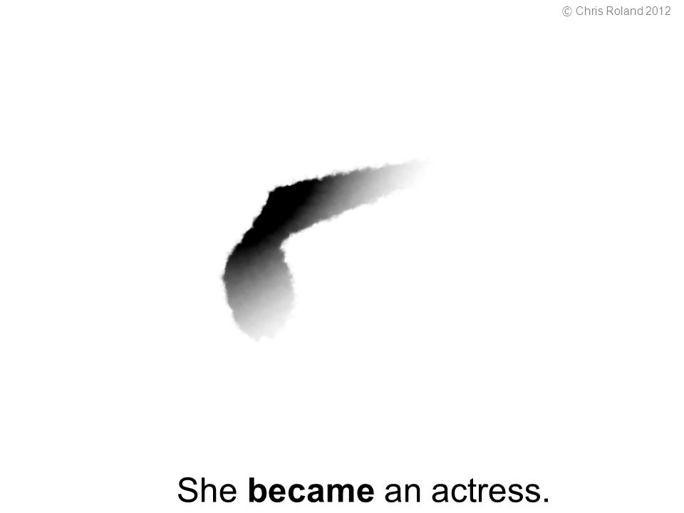 She became an actress. © Chris Roland 2012