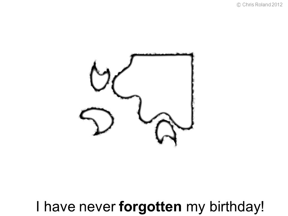 I have never forgotten my birthday! © Chris Roland 2012