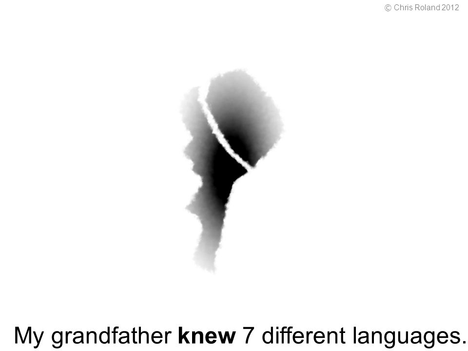My grandfather knew 7 different languages. © Chris Roland 2012