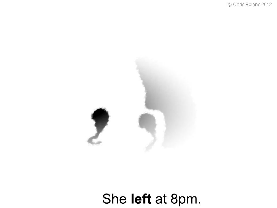 She left at 8pm. © Chris Roland 2012