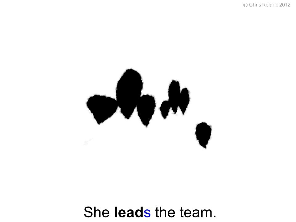 She leads the team. © Chris Roland 2012